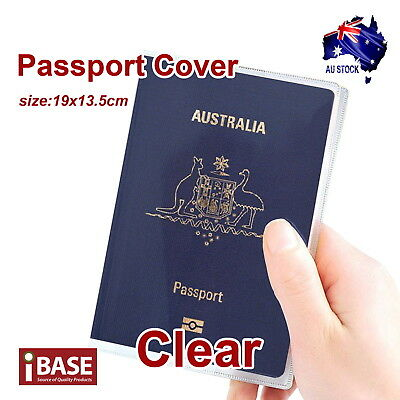 2x Passport Cover Transparent Protector Travel Clear Holder Organiser Wallet 4