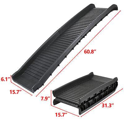 Foldable Dog Pet Ramp For Car SUV Truck Pickup Backseat Stair Step Travel Ladder 6