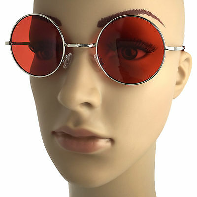 4e359d95cb ... John Lennon Style Round Large Sunglasses Colored Vintage Classic Retro  Circle 2