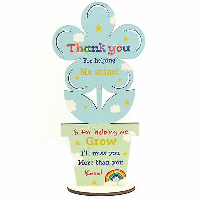 Thank You Wooden Flower Gift For Teacher And Assistant Leaving School Pre School 3