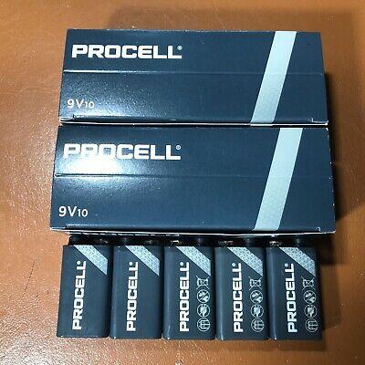 10 Duracell 9V PP3 Industrial PROCELL Batteries Smoke Alarm LR22 6LR61 MN1604 2