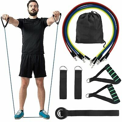 11pcs Resistance Bands Set Exercise Fitness Tube Workout Bands Strength Training 11