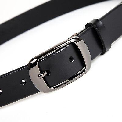 Women's Jean Belt, Classic Buckle Handcrafted Genuine Leather Belt 5