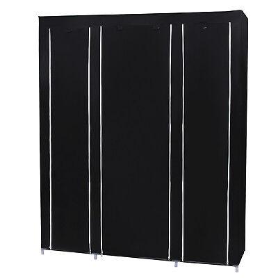 Faltschrank Kleiderschrank Stoffschrank Garderobe Schränke 150x45x175 cm LSF03H