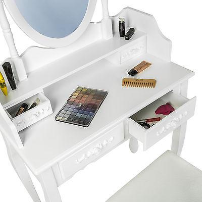 Coiffeuse Meuble Table De Maquillage Tabouret Commode Avec