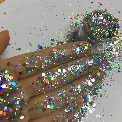 Chunky Glitter Loose Mix Pot Eye Shadow Nail Face Tattoo Festival Club Cosmetic 2