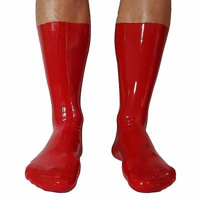 Latex Socken aus Rubber in rot, Einheitsgröße 2