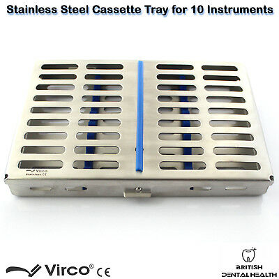 Stainless Tray Cassette for 10 Pcs Instruments Surgical Dental Implant Lab CE 3