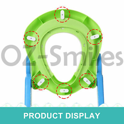 Kids Toilet Seat Ladder Baby Toddler Potty Training Step Trainer Non Slip Safety 6