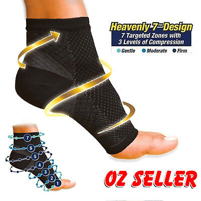 Foot Sleeve Plantar Facilities Compression Socks Sore Achy Swelling Heel Ankle 8