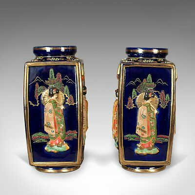 Antique Pair of Japanese Vases, Ceramic Pots, 20th Century 2