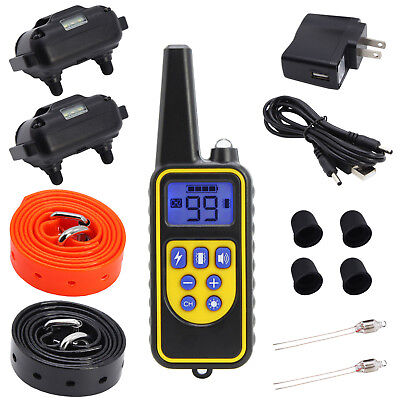 Waterproof Dog Training Electric Collar Rechargeable Remote Control 875 Yards 11
