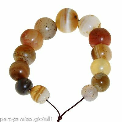 String of Antique Agate Beads, banded and not.  古色古香的中国西藏玛瑙珠  清 (373) 6