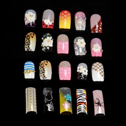 Set de un caja (100 piezas) postizas acrílico Gel Francesa Manicura Uñas Salón