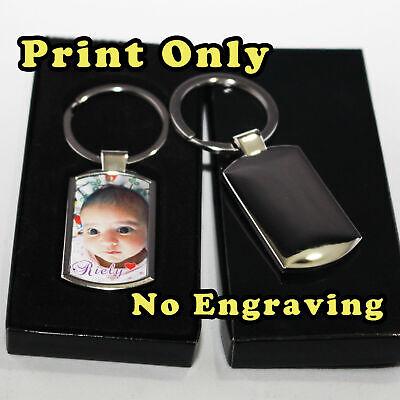 Personalised  Metal Keyring Photo Printed/Engraved Keepsakes collectable Gift ❤❤ 9