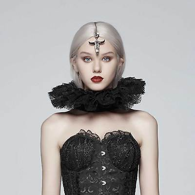 Tunika Top Kleid Gothic Lolita unüblich Spitze Halskrause Split Mode Punkrave