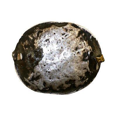 (2556)Antique silver and carnelian head decoration.Tibet. 2