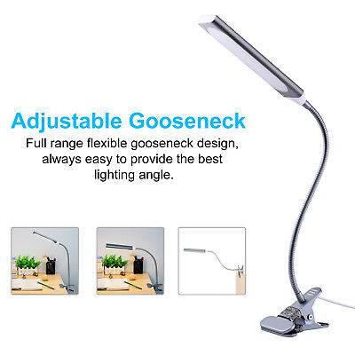 Flexible USB Table Reading Book Lamp 48 LED 5W Light Dimmable Clip-On Desk 4
