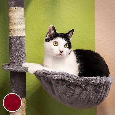 Arbre à chat griffoir grattoir jouet animaux douillet et peluché bordeaux 6