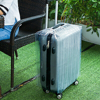 Plastic Travel Luggage Suitcase Cover Protector Scratch Dustproof Bag 20 24 28 5
