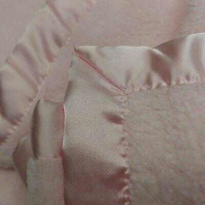 Nursery Rhyme Baby Blanket Pink Fleece w/ Satin Edge Harper 8