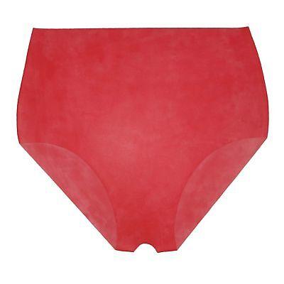 Latex Slip Ouvert aus Rubber in rot, Einheitsgröße