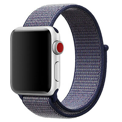 Nylon Woven Sport Loop Band Strap For Apple Watch iWatch Series 4/3/2/1 38/42mm 3