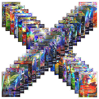 New Pokemon TCG :100 Holo Flash Card Lot Rare 20 GX+80 EX Cards Gifts For Kids