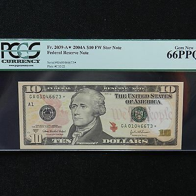 2004-A $20.00 Federal Reserve Star Note  Boston  FR# 2091-A*  CH CU New Notes In
