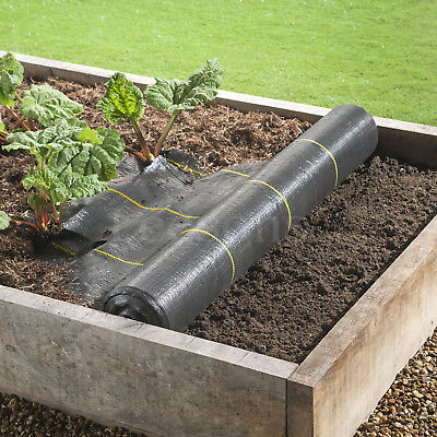 4m Extra Heavy Duty garden weed control fabric ground cover membrane landscape 6