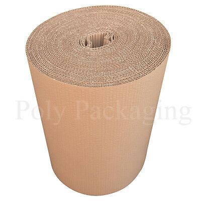 450mm x 10m CORRUGATED CARDBOARD PAPER ROLLS Postal Packaging Wrapping Parcels 3