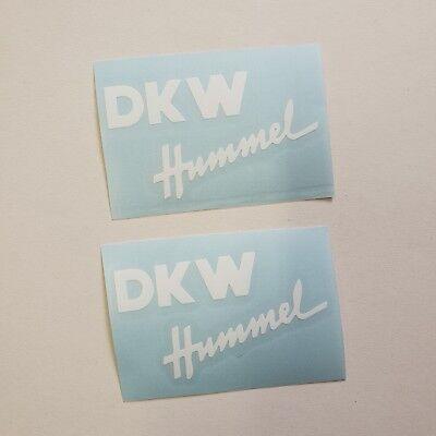 Aufkleber Set DKW Hummel * 101 / 112 / 113 * weiß 4