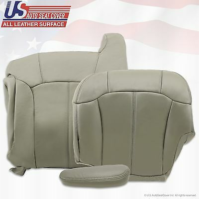 1999 2000 2001 2002 Chevy Tahoe Suburban Upholstery leather seat cover Gray 3