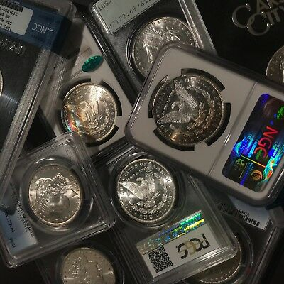 ✯Estate Coin Lot US Morgan Silver Dollar ✯1 PCGS or NGC UNC ✯ O, S, P, CC Mint✯ 3