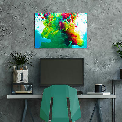 ZAB352 Colourful Cool Funky Modern Canvas Abstract Home Wall Art Picture Prints 3