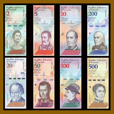 Venezuela 2 -100,000 Bolivares & 2-500 Soberano (21 Pcs Full Set) 2007-2018 Unc 6