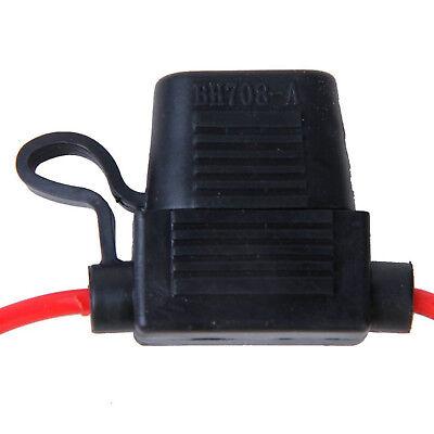10x Auto PKW KFZ-Sicherungshalter Flachsicherung Halter Sicherung 27cm Kabel DE