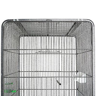 Volière cage à oiseaux canaries perruches perroquets metal 146x54x54cm 4