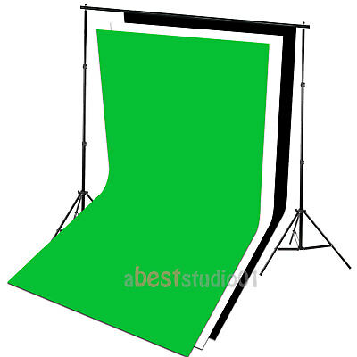 Photography Studio Backdrop Softbox Umbrella Lighting Kit Background Stand Set 2