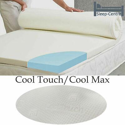 Lavish Cool Blue Memory Foam Mattress Topper + All Sizes,Depths & Cover Options 3