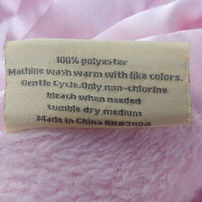 Nursery Rhyme Baby Blanket Pink Fleece w/ Satin Edge Harper 3