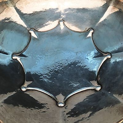 Tiffany & Co. Special Handworked Sterling Silver Bowl, Arts & Crafts, 4.5 Pints, 6
