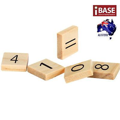 Wooden Alphabet Scrabble Tile Number Scrapbooking Handcraft Letter set Complete 4