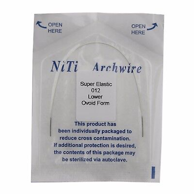1pc Dental Orthodontic Super Elastic Niti Archwire Ovoid Form Wires White Round