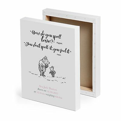 Personalised winnie the pooh baby print new baby birth nursery 2 of 4 personalised winnie the pooh baby print new baby birth nursery christening gift negle Images