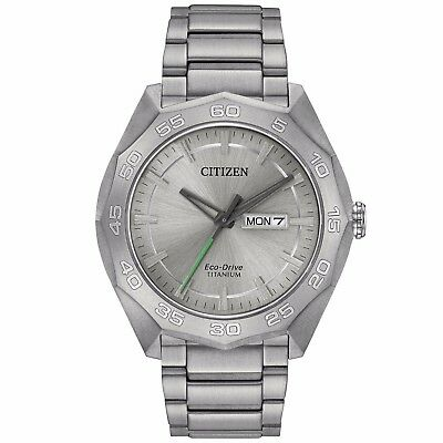 Citizen Eco-Drive Men's Super Titanium Calendar 44mm Bracelet Watch AW0060-54A 2