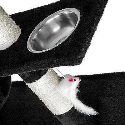 Arbre à chat xxl griffoir grattoir geant avec 2 grottes noir 4