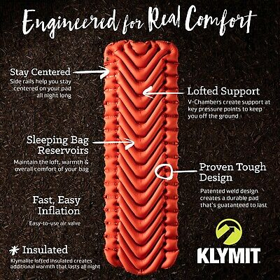KLYMIT INSULATED Static V Lightweight Sleeping CAMPING Pad - CERTIFIED REFURBISH 2