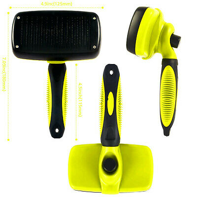 Self Cleaning Pet Dog Cat Slicker Brush Grooming For Medium And Long Hair Pets 4