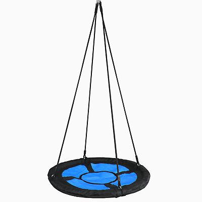 Adult Kids Giant Playground Backyard Home Nest PE Rope Web Swing Tree Net Saucer